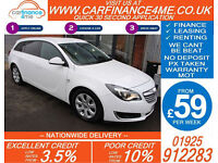 2014 VAUXHALL INSIGNIA 2.0 CDTI SRI GOOD / BAD CREDIT CAR FINANCE FROM 59 P/WK