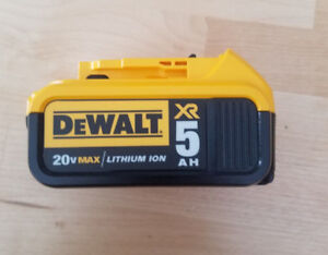 Dewalt  5.0AH  20v Battery with charger- Brand New Plus Case