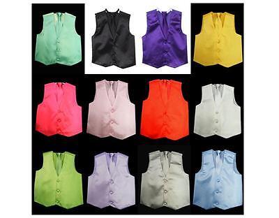 Boys Dress (NEW Boys Dress Vest with Neck Tie Set 20 Colors, All)