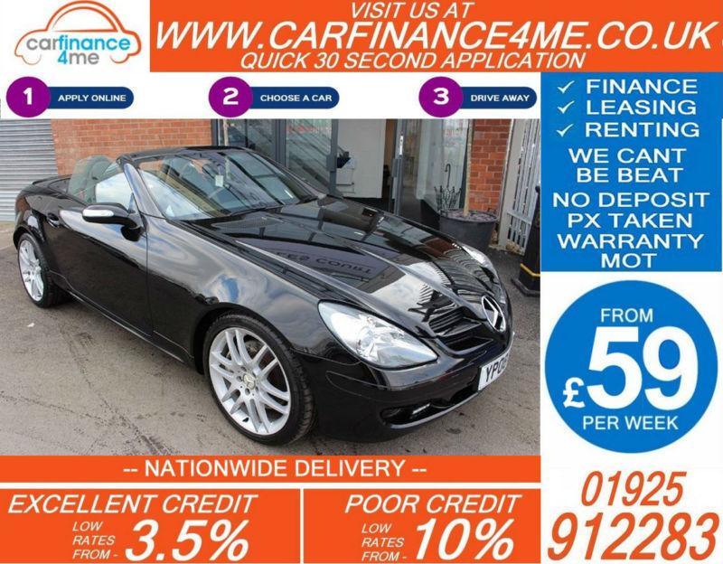 2008 MERCEDES SLK280 3.0 GOOD / BAD CREDIT CAR FINANCE FROM 59 P/WK