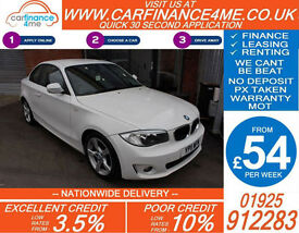 2011 BMW 118D 2.0 TD SPORT GOOD / BAD CREDIT CAR FINANCE FROM 54 P/WK