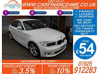2011 BMW 118D 2.0 TD SPORT GOOD / BAD CREDIT CAR FINANCE FROM 54 P/WK