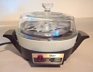 Vintage 70's Oster Automatic Egg Cooker/ Poacher