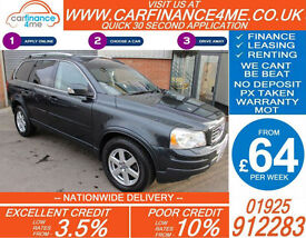 2010 VOLVO XC90 2.4 D5 AWD ACTIVE GOOD / BAD CREDIT CAR FINANCE FROM 64 P/WK