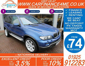 2006 BMW X5 3.0D SPORT EDITION GOOD / BAD CREDIT CAR FINANCE FROM 74 P/WK