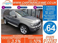2006 BMW X5 SPORT EXCLUSIVE ADDITION GOOD BAD CREDIT CAR FINANCE FROM 64 P/WK