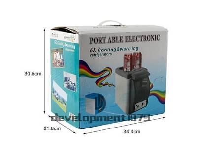 12v 6L Mini Fridge Car Small Refrigerator Compact Refridgerator Cooler Warmer