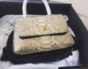 "Brand new chanel bag "" real Paython snake leather """