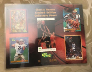 7 1993 CLASSIC GAMES LIMITED EDITION COLLECTOR SHEET Shaq/Aikman
