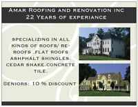 Roofing (Amar roofing &renovations INC.