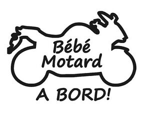Stickers Bébé Motard à Bord