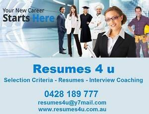RESUMES 4 U - Selection Criteria & Resume Writing Service Gold Coast Region Preview