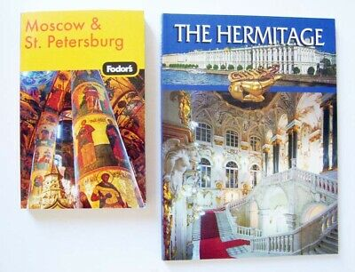 Lot of 2 Books: Fodor's Moscow & St. Petersburg, The Hermitage, Travel To Russia