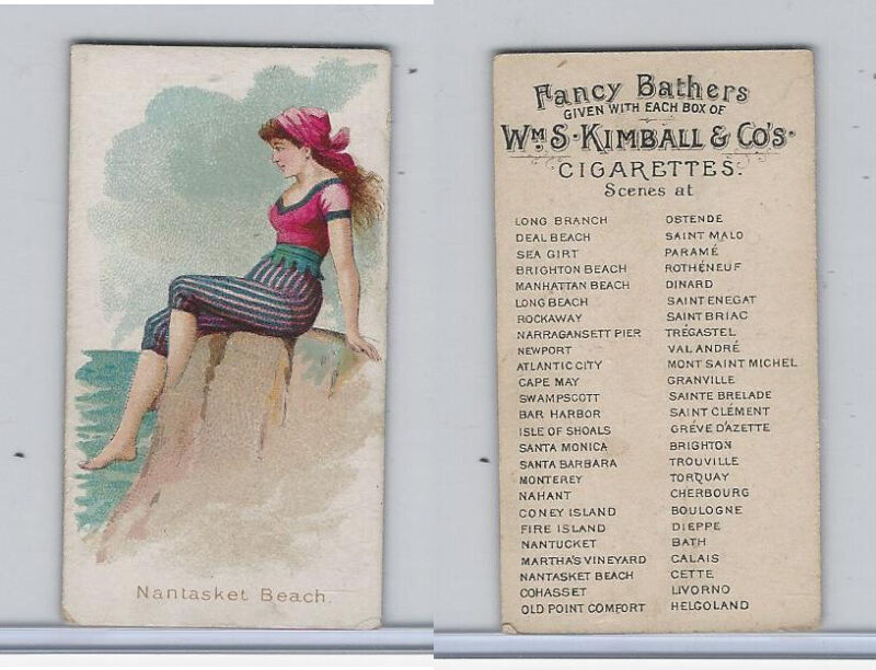 N187 Kimball, Fancy Bathers, 1889, Nantasket Beach