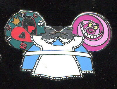 Character Ear Hat 2 Mystery Alice in Wonderland Cheshire Cat Disney Pin 98961
