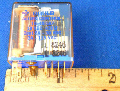 T154X-587 GOULD ALLIED CONTROLS RELAY 18VDC/430 OHMS NEW OLD STOCK