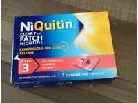 New pack of niquitin nicotine patch step 3