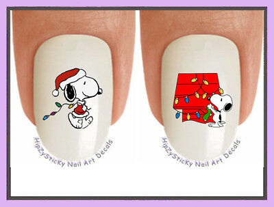 Nail Decals #822X CHRISTMAS Snoopy 8 Holiday Lights WaterSlide Nail Art Transfer](Christmas Nail Decals)