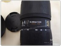 Sigma f2.8 lens 70-200mm EX HSM II for Canon DSLR - absolutely mint condition