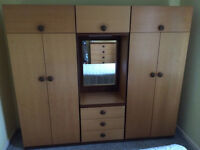 Triple wardrobe and chest of drawers