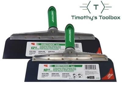 Usg Sheetrock Drywall Offset Taping Knife Combo - 10 12 Blue Steel