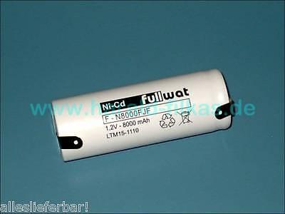NiCd-Akku 1,2 Volt 8 Ah, 8000mAh, Format F nagelneu Für z.B. Ceag SB 5.3 L, SEB8