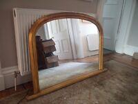 Vintage gilt frame - Over mantle mirror