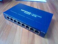 Almost new 8-port gigabit switch