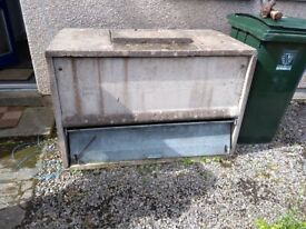 Free Concrete coal/wood bunker. Taker dismantles and removes. 2 are available.