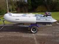 3.4m inflatable boat dinghy airdek with 4hp suzuki outboard engine motor