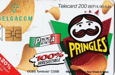L2 ) telecarte  200 francs pringles pizza (snack pringles 50 gr) PK 115648