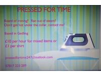 Pressed For Time ironing service in Gedling