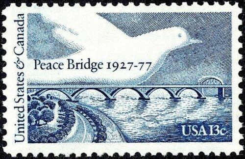 1977 PEACE BRIDGE STAMP 50th Anniv United States Canada Border Port Erie Ontario