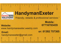 Self Employed Part or Full time handymen or women required by Exeter based firm.