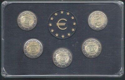 munten set van Duitsland van 5 x 2 euro van het jaar 2013 ,zie foto's ,Nr 3021 ,