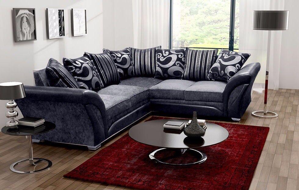 💥CHRISTMAS SALES💖Brand New❋SHANNON Corner❋3 + 2 Sofa/brown N beige/black N grey💖Universal corner