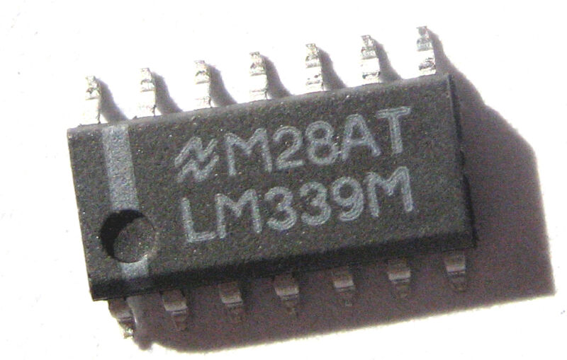 LM339M (500 pcs)-NOS-Low Power Quad Comparator SOIC-14 SMD-Nat