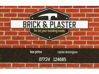 bricklayer/plasterer available
