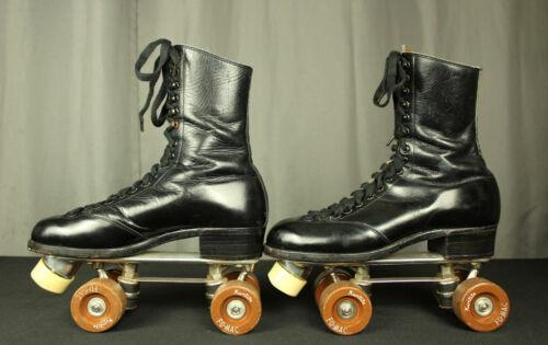 Antique Betty Lytle - Hyde Roller Skates 8.5 Chicago Custom Plates  Near MINT!