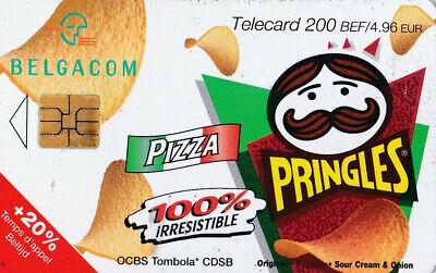 L2 ) telecarte  200 francs pringles pizza (snack pringles 50 gr) PK 115863