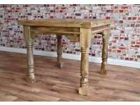 Extending Rustic Farmhouse Style Hardwood Table 3ft -6ft - Space Saving Design