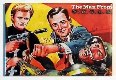 Vintage The Man From U N C L E  Uncle Lunchbox 2  X 3  Fridge Magnet Art