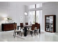 High-end, luxury, contemporary Italian Dining Table & Chairs and Dining Room Set