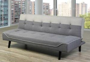 Linen fabric Sofa Bed in grey. (TI7)