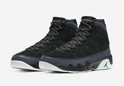 Nike Air Jordan 9 Retro Shoes Black White Racer Blue CT8019-024 Men's NEW