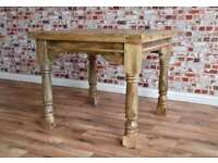 Extending Rustic Farmhouse Style Hardwood Table 3ft -6ft - Space Saving Design