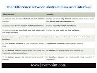 What is Difference between abstract class and interface ? - JavaTpoint