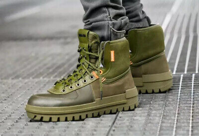 NIKE XARR THE10TH Leather Boots BQ5240-200 'Medium Olive' Size UK 14 EU...