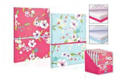 A5 Notebook Notepad FLOWERS home school office vintage design Blossom retro