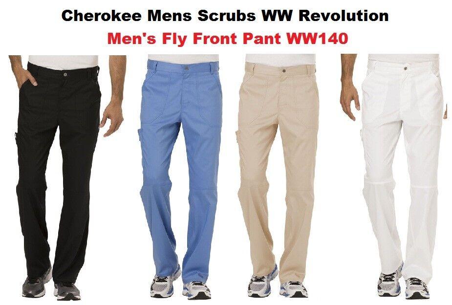Cherokee Mens Scrubs WW Revolution Pants WW140 All Colors An